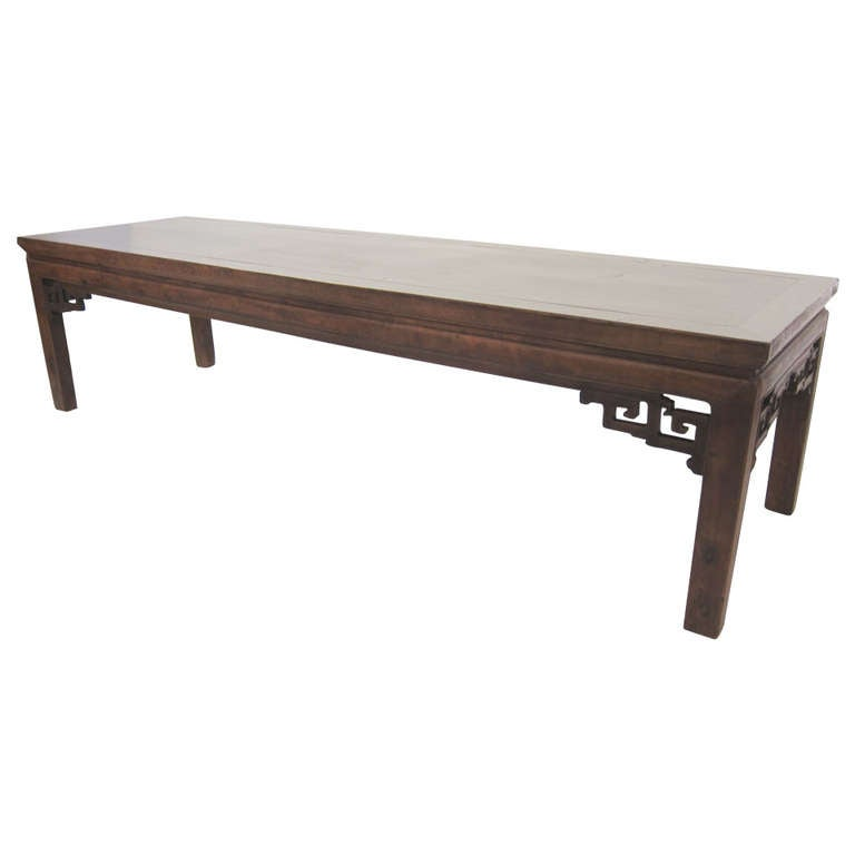 Extra Large 19th Century Chinese Bench Coffee Table At 1stdibs