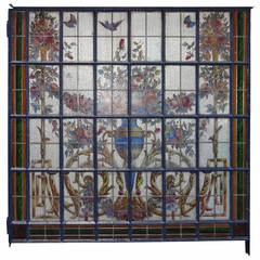 Stain Glass Window Wall Unit W/Doors