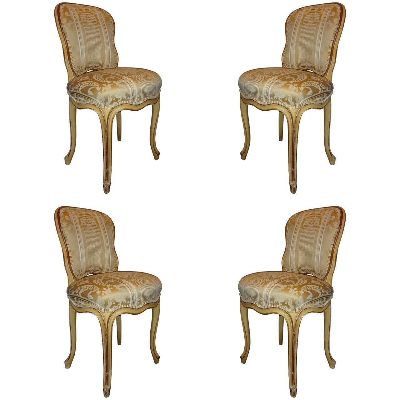 Set of four louis xv style dining chairs at 1stdibs - Four dining room chairs set ...