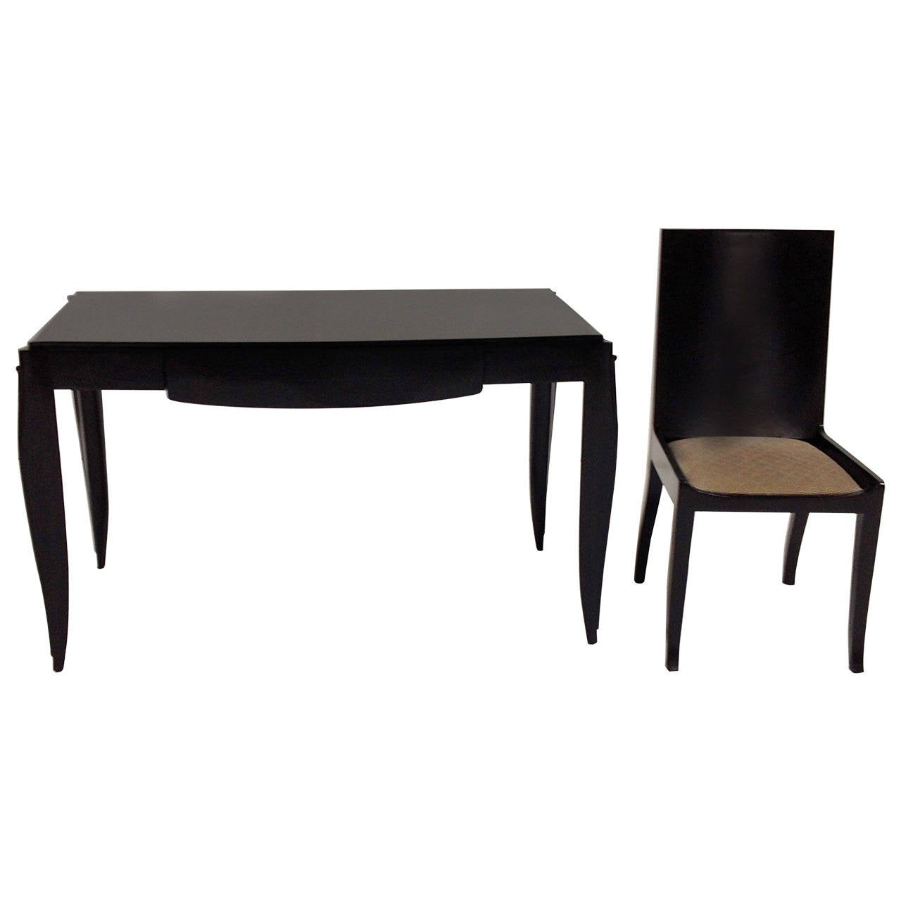 modern black desk with chair at 1stdibs