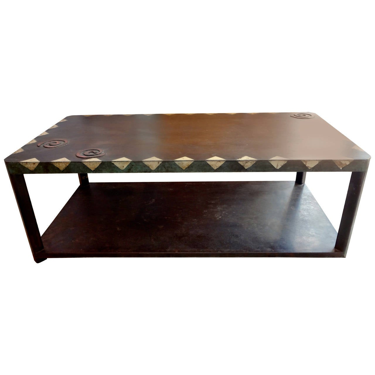 Large bronze coffee table for sale at 1stdibs Wide coffee table