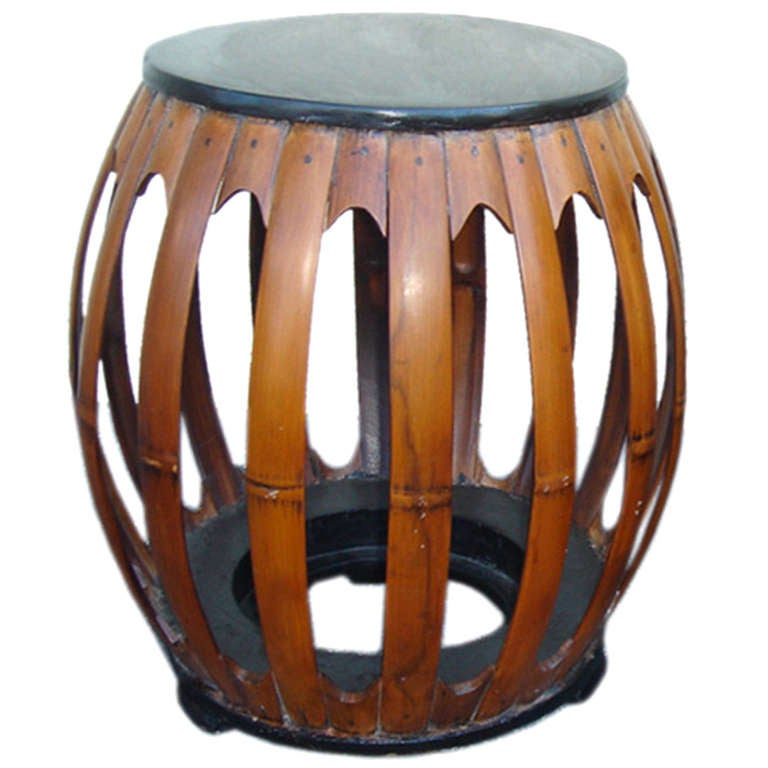 Bamboo Stool Side Table