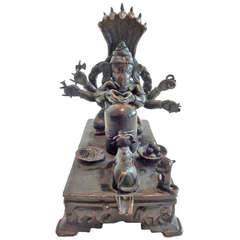 Rare Erotica Bronze Ganesh