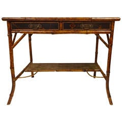English Bamboo Lacquered Desk