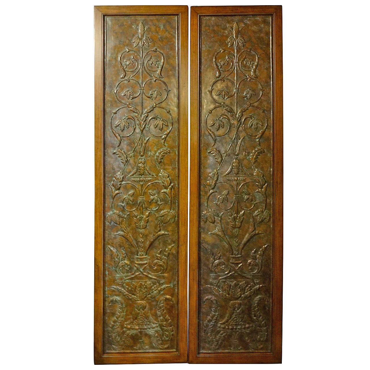 Pair Pressed Metal Door Panels At 1stdibs
