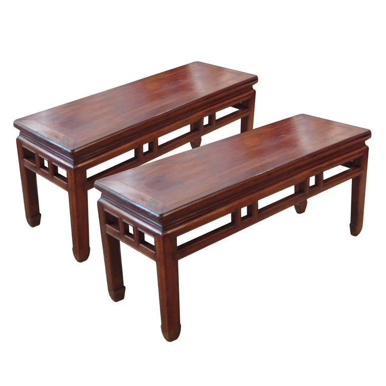 Pair Of Chinese Bench At 1stdibs