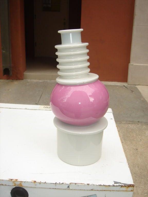 Memphis Porcelain Nilo Vase by Ettore Sottsass image 2