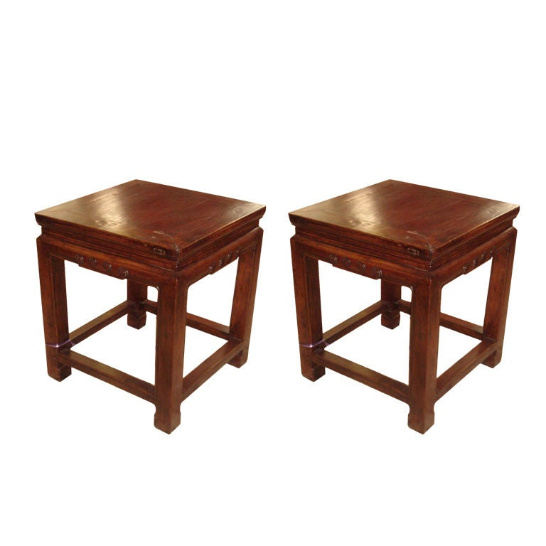 Pair Of Chinese Stools At 1stdibs