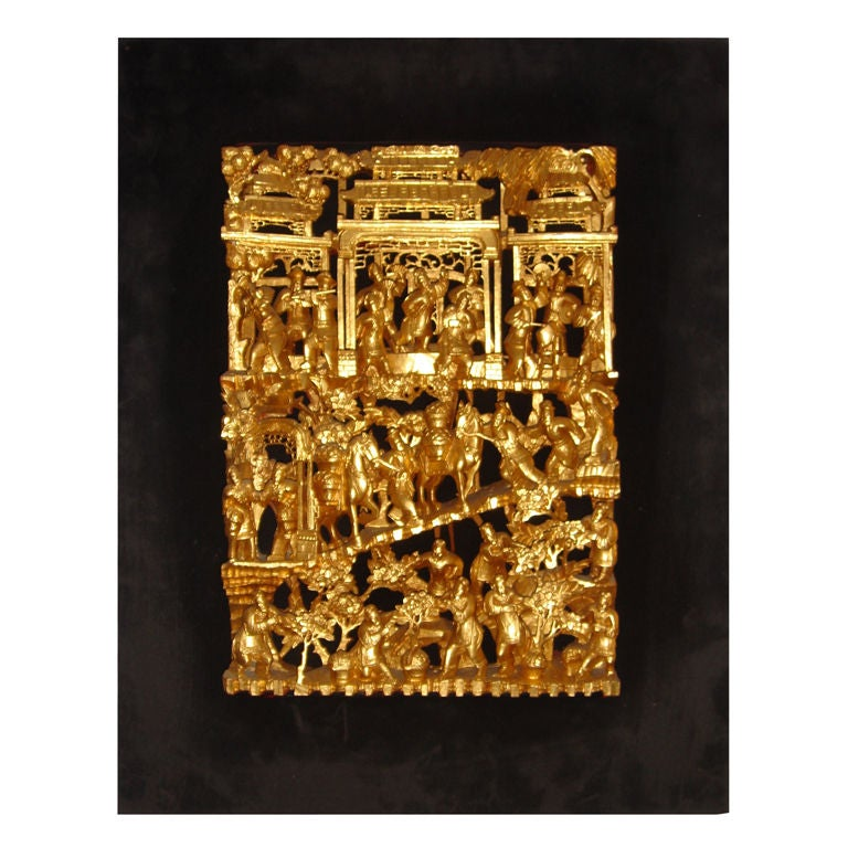 Chinese Gold Gilt Wood Carving At 1stdibs