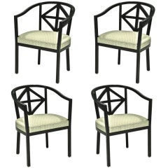 FOUR VILLA AST ARMCHAIRS-RECREATIONS BY JOSEP HOFFMAN
