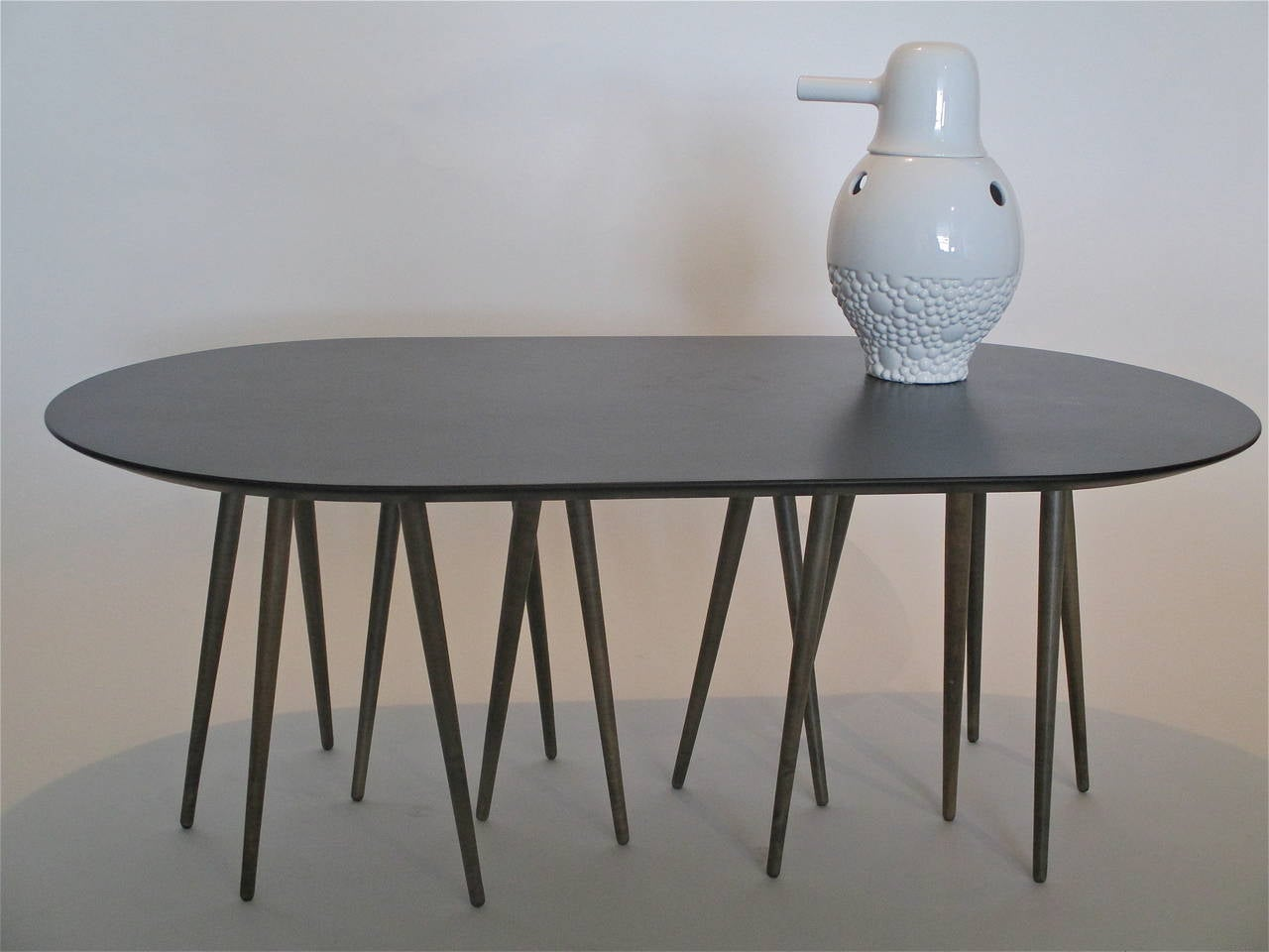 Cactus quot slate top coffee table by lawrence laske at 1stdibs