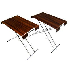 PAIR OF VINTAGE MODERN DANISH ROSEWOOD TABLES