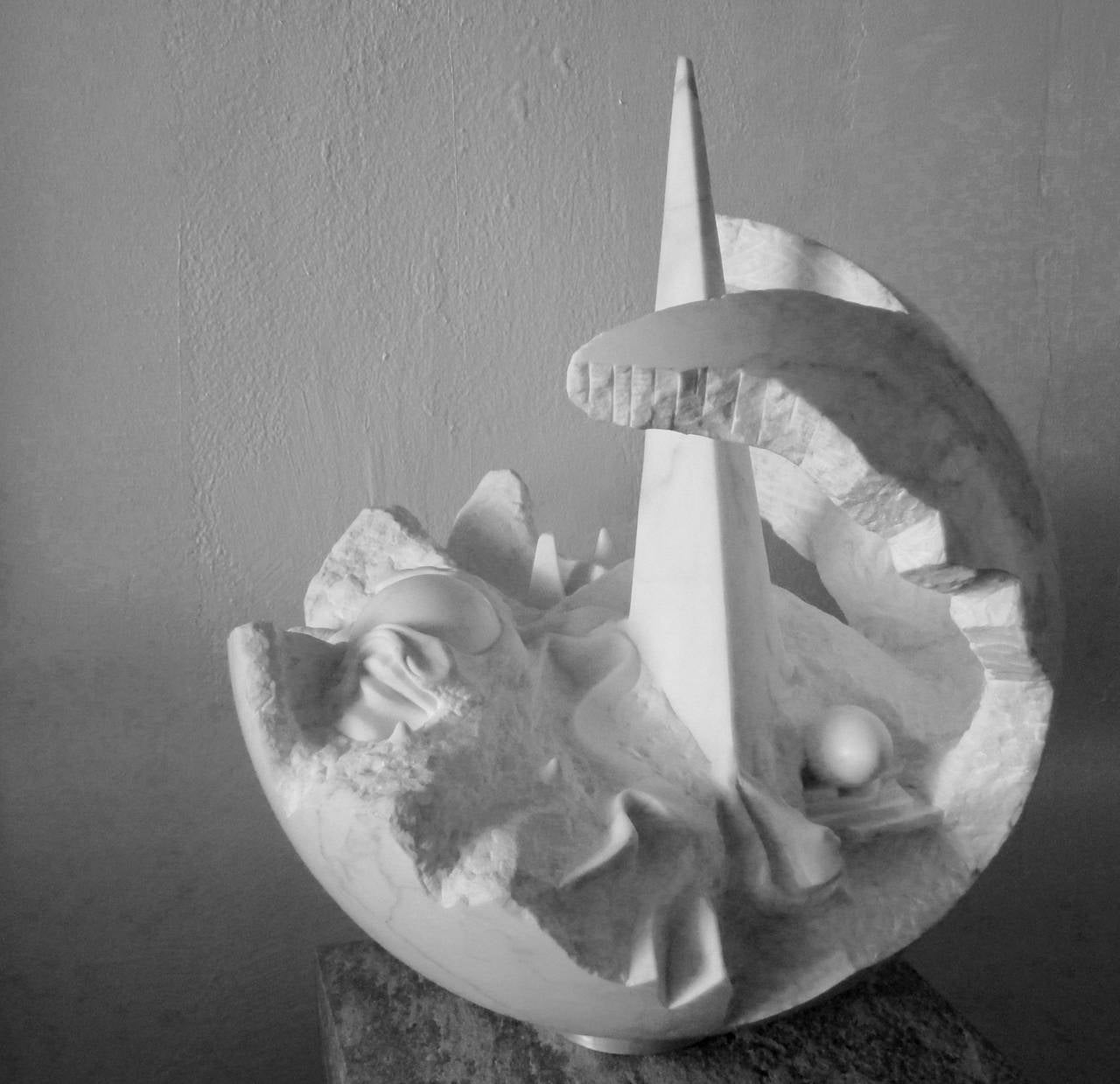 white carrara marble sculpture by jens flemming sorensen 2 - White Carrara Marble