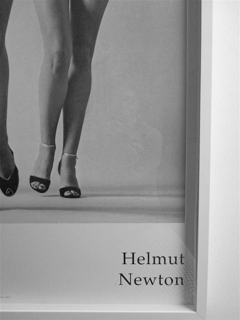 Helmut Newton A Large Framed Exhibition Poster Italy