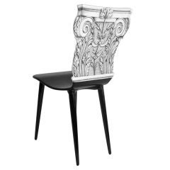 """CAPITELLO CORINZIO"" CHAIR BY PIERO FORNASETTI"