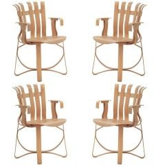 Set Of Four (Hat Trick) Frank Gehry Arm Chairs