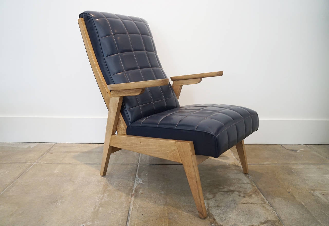 Quilted Lounge Chairs at 1stdibs
