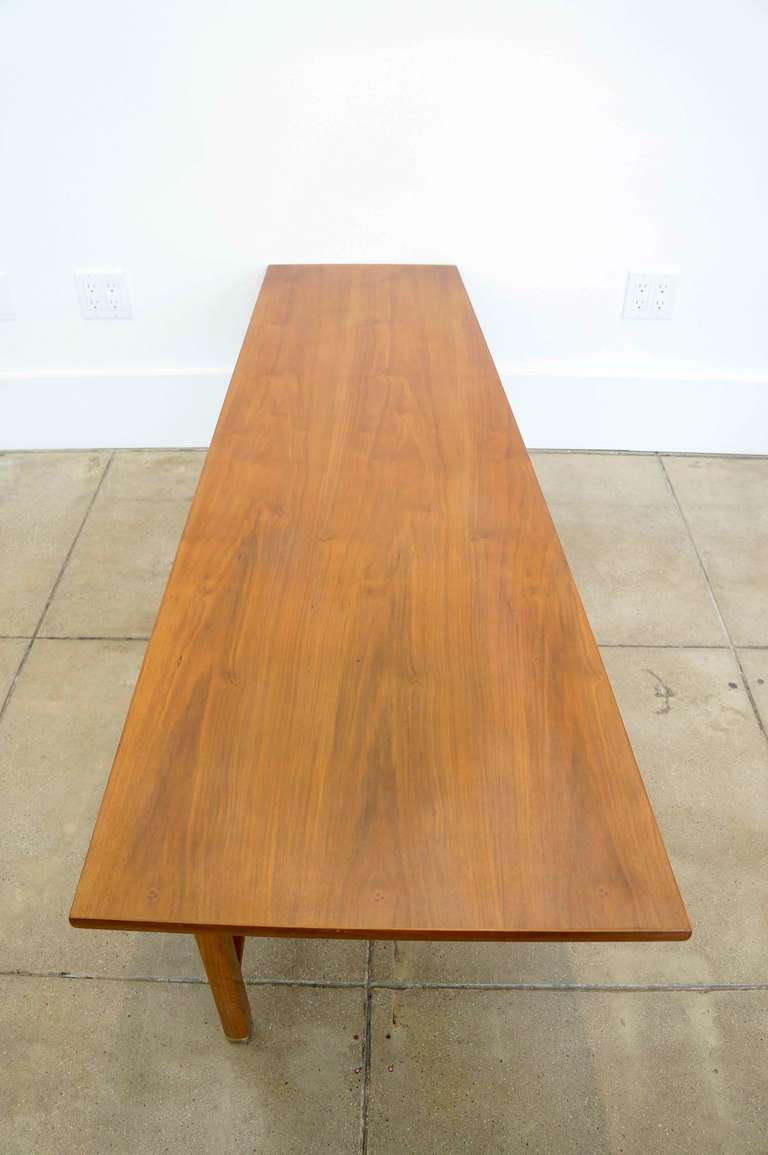 Edward j wormley trapezoid coffee table for sale at 1stdibs for Trapazoid table