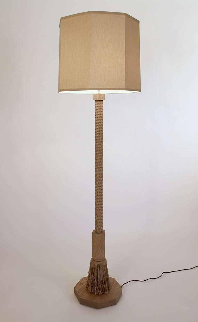 Rope floor lamp for sale at 1stdibs for Floor lamp with rope stand