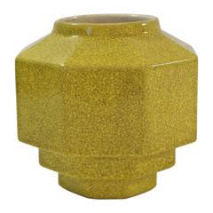 Charles Catteau For Boch Freres Citron glazed Vase