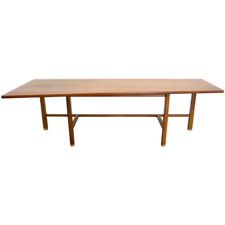 Edward j wormley trapezoid coffee table for sale at 1stdibs for Trapezoid table
