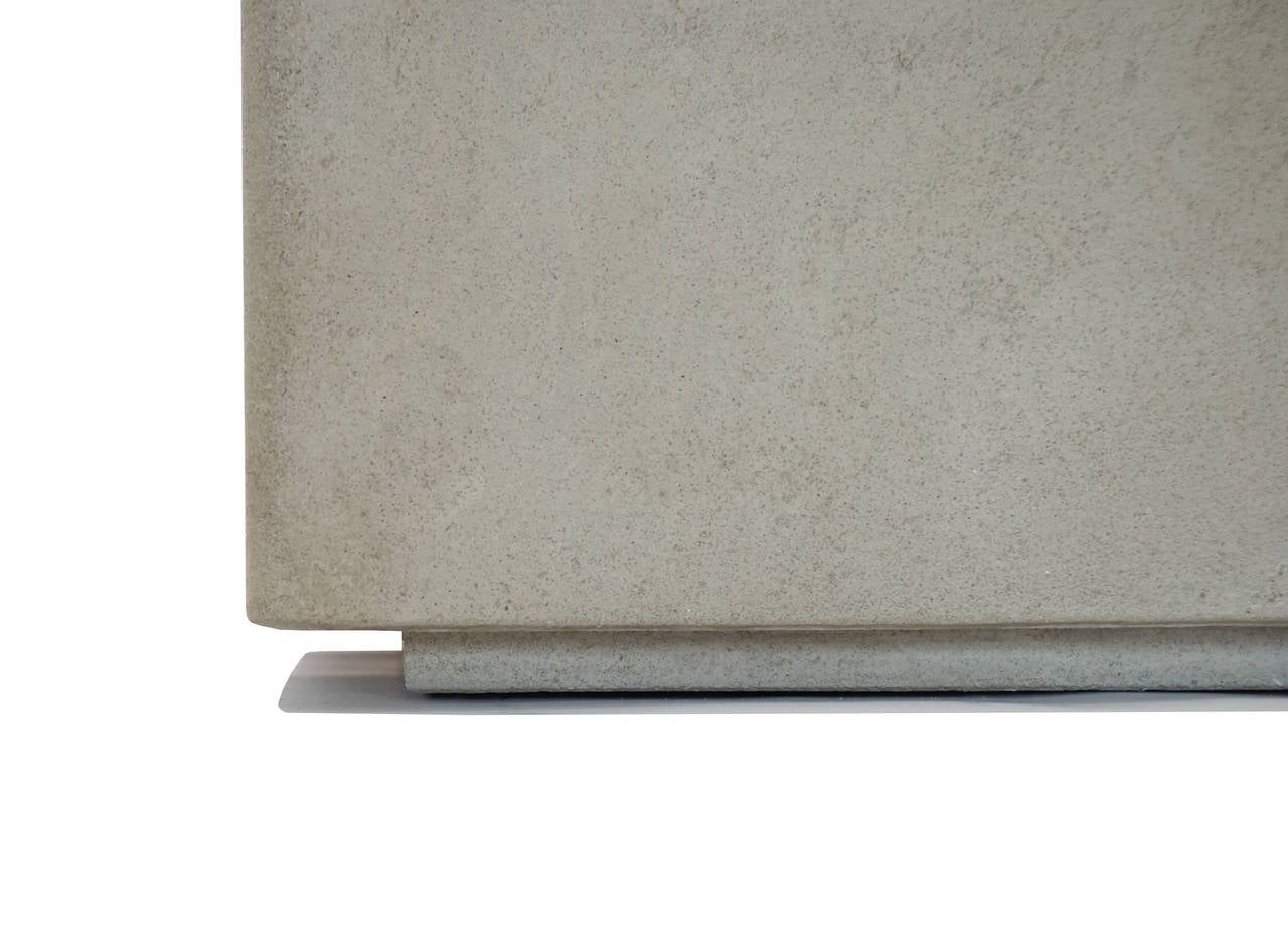 Scarpa I Cast Concrete Bench Or Planter For Sale At 1stdibs
