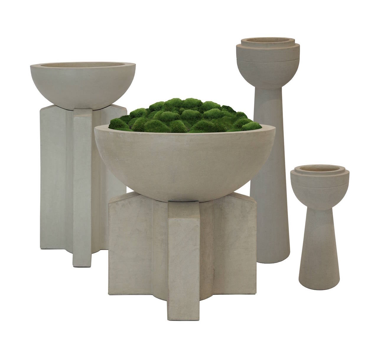 Californian iii cast concrete planter for sale at 1stdibs - Casting concrete planters ...