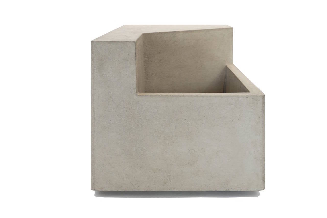 Scarpa ii cast concrete bench or planter for sale at 1stdibs - Casting concrete planters ...