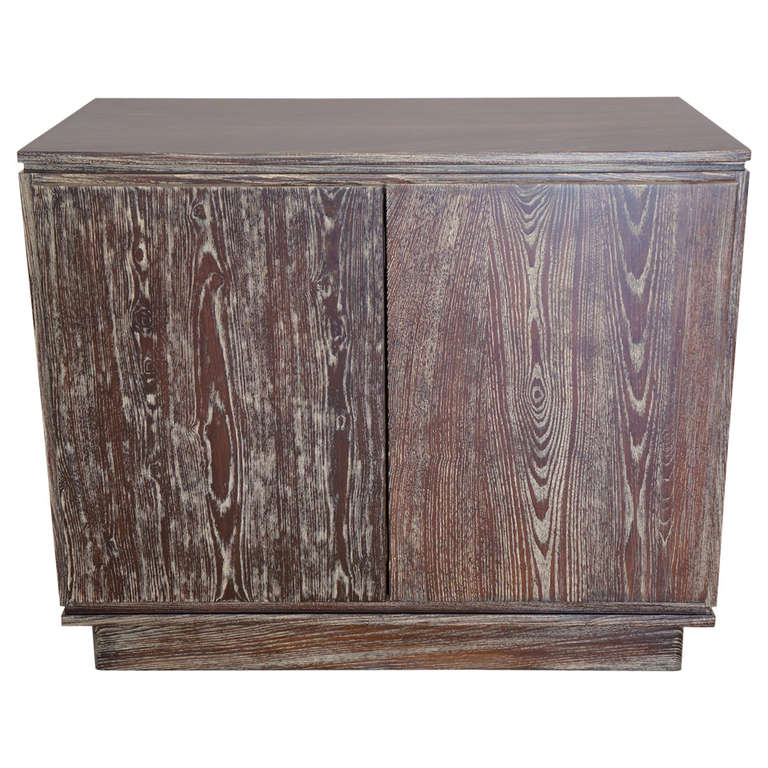 Cerused French Oak Kitchens And Cabinets: Cerused Oak Two Door Cabinet At 1stdibs