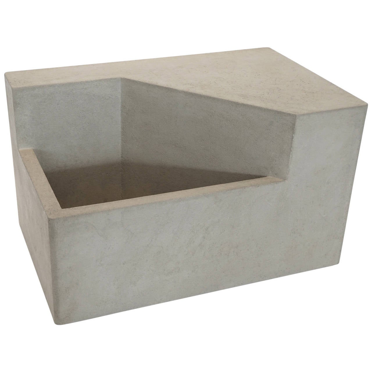 Scarpa i cast concrete bench or planter for sale at 1stdibs - Casting concrete planters ...