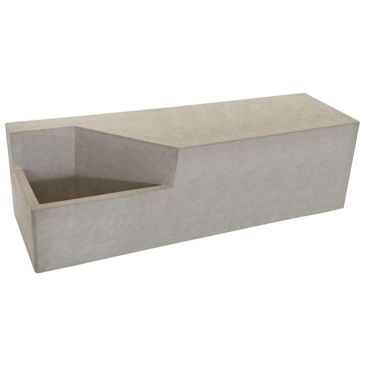 Modern Concrete Benches: Scarpa II Cast Concrete Bench Or Planter At 1stdibs