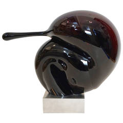 Modernist Abstract Glass Sculpture