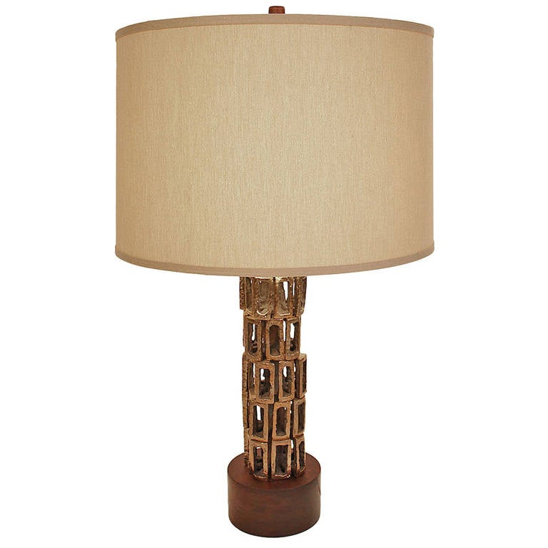 Bronze Sculptural Table Lamp For Sale at 1stdibs
