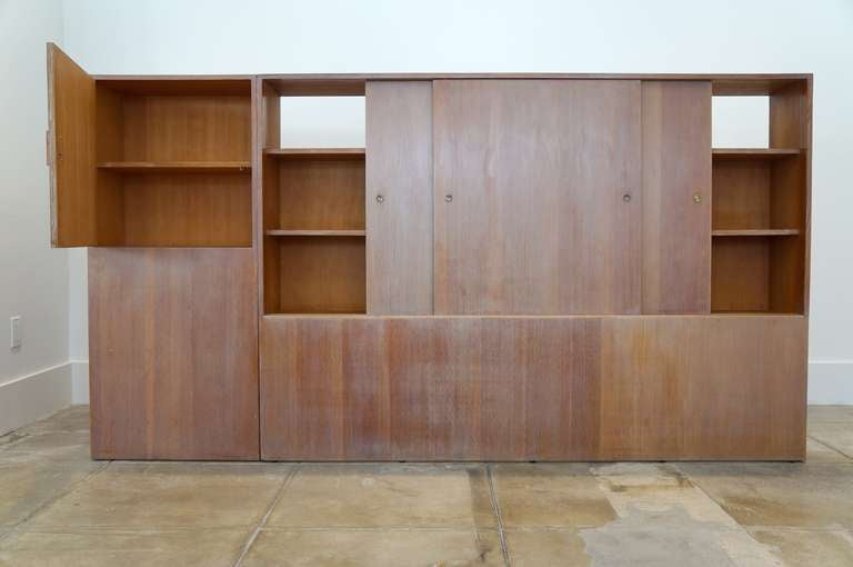 California artisan room divider and storage at 1stdibs - Room divider with storage ...