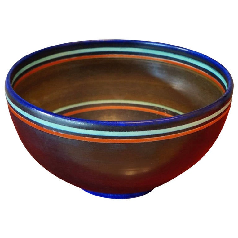 Modernist Ceramic Bowl For Sale