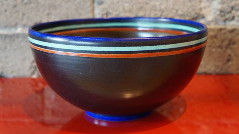 Mid-Century Modern Modernist Ceramic Bowl For Sale