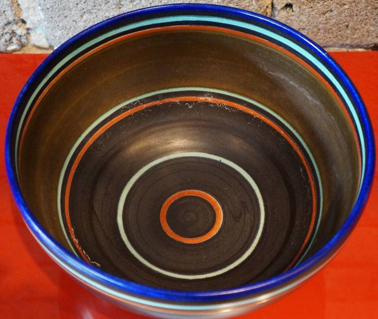 Dutch Modernist Ceramic Bowl For Sale