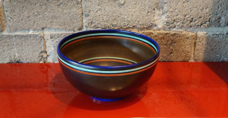 "Holland Gouda bowl signed by the artist ""jm"" ... pattern 1384 from the splendid series."
