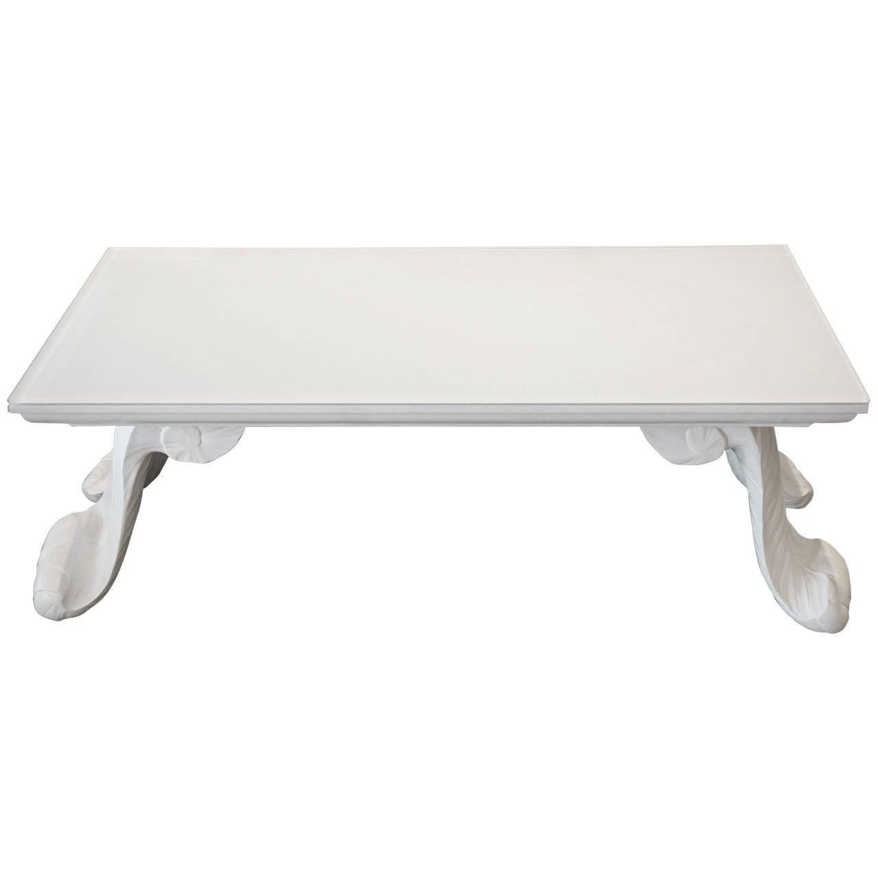 Scroll Leg Coffee Table At 1stdibs