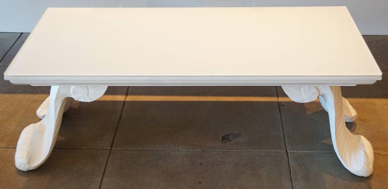 Grosfeld House Scroll Leg Coffee Table At 1stdibs