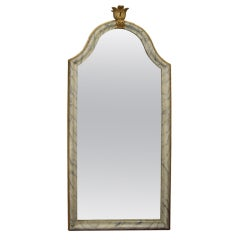 18/19th c.Italian painted and gilt mirror