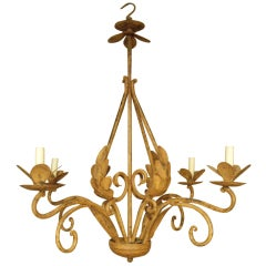 Painted Iron Italian Chandelier