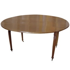 Round French Walnut Dining Table