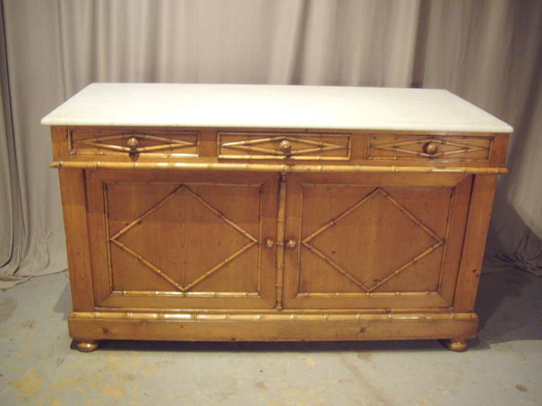 19th century french pine bathroom cabinet with marble top at 1stdibs
