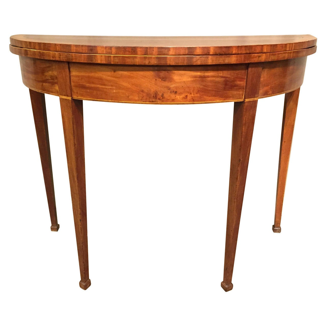 Late 19th c swedish demi lune table at 1stdibs - Table demi lune murale ...