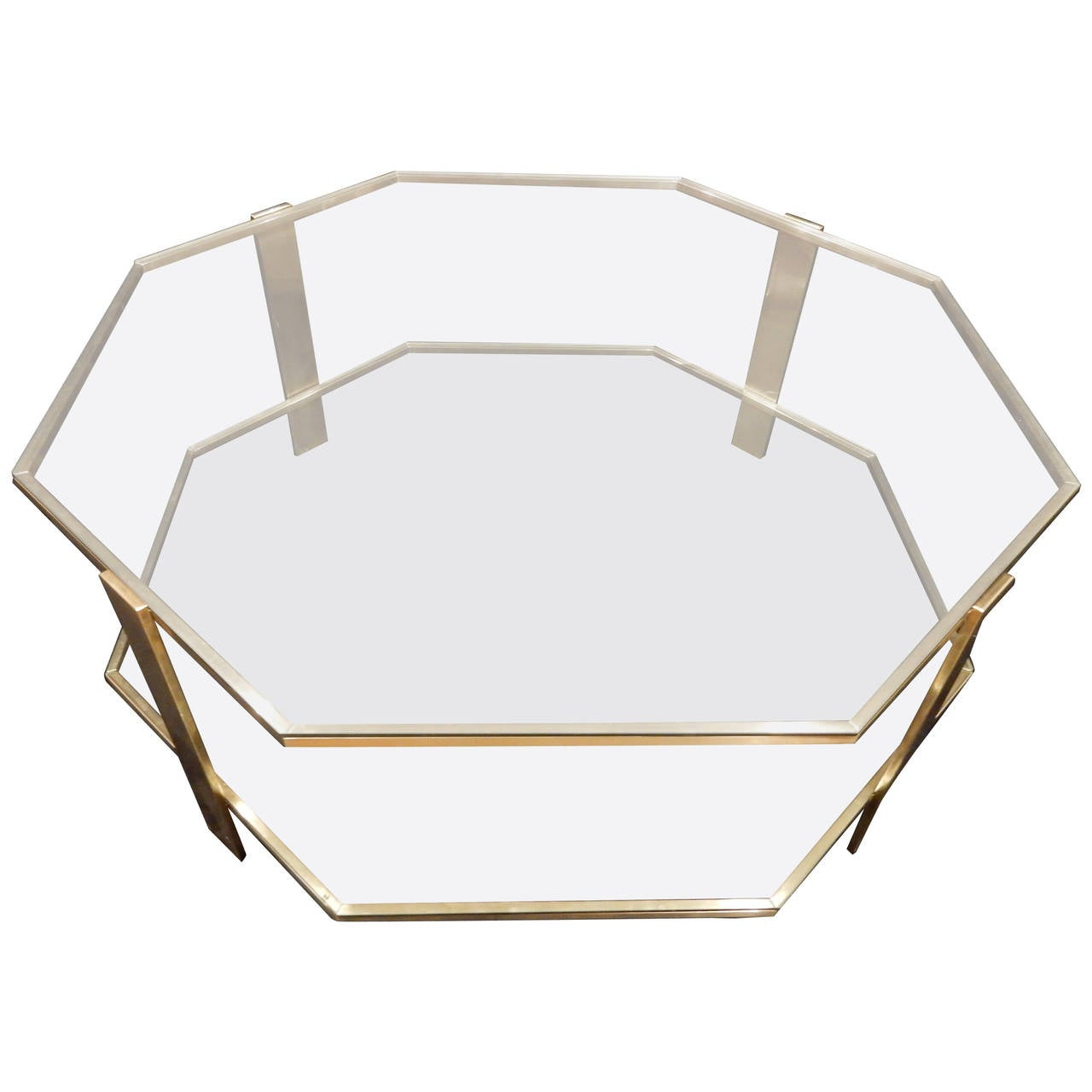 Maison malabert bronze octagonal coffee table at 1stdibs for Octagon coffee table