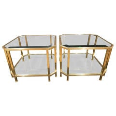 Pair of Quality French Brass Coffee Tables