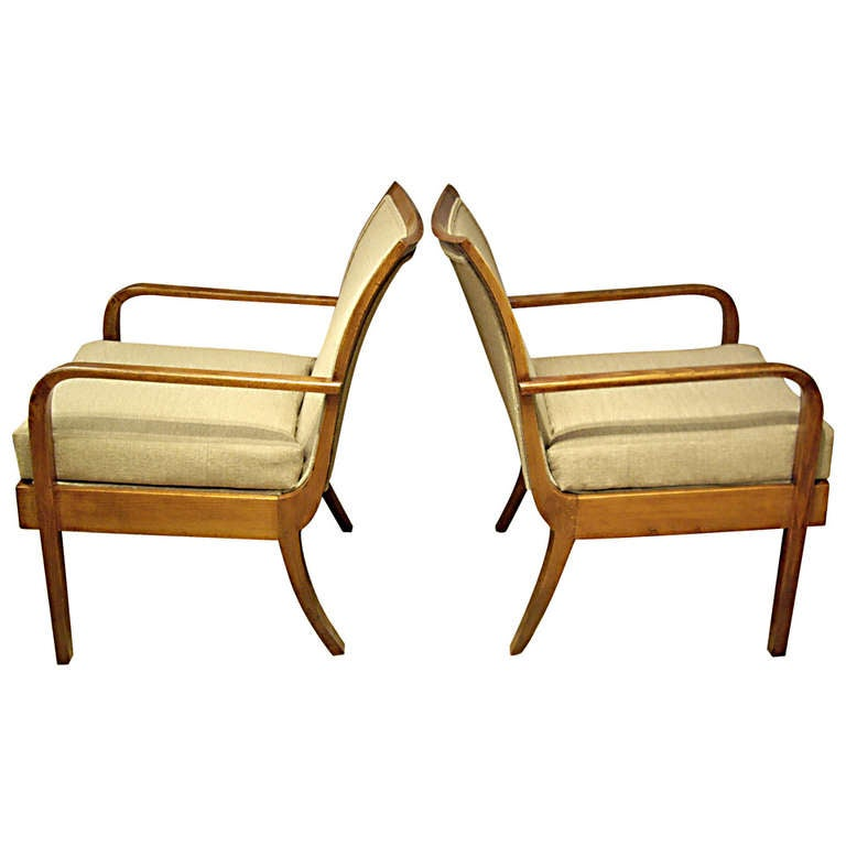 pair art deco chairs at 1stdibs