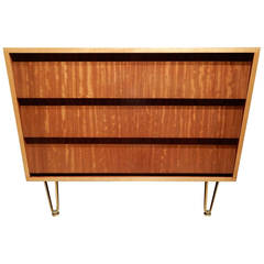 Mid-Century Modern Louvered Front Commode
