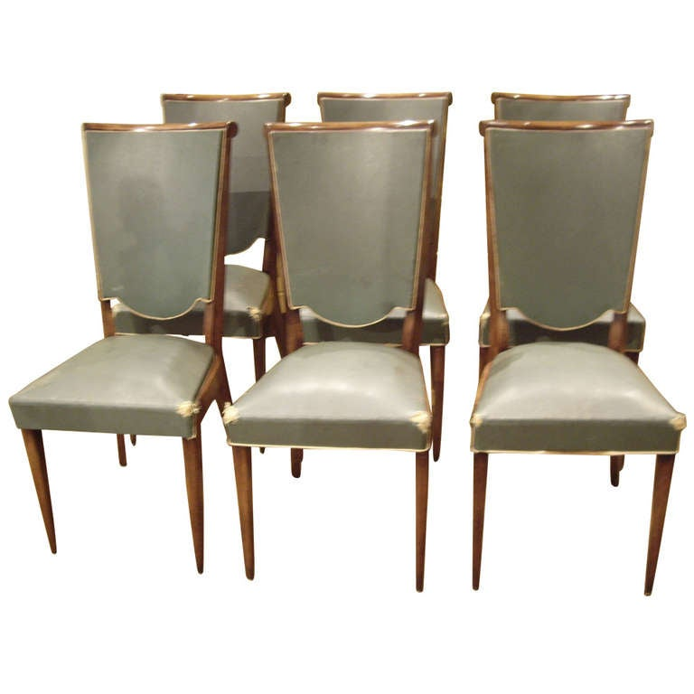 Six Art Deco Chairs At 1stdibs